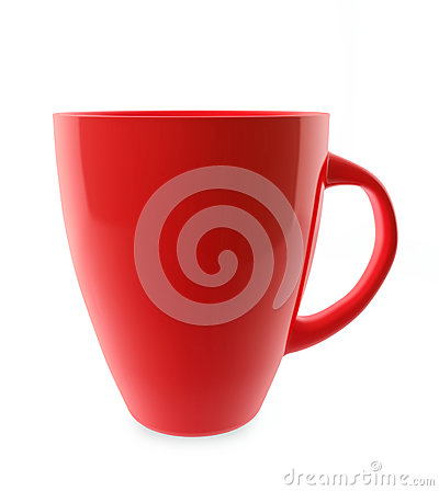 Traditional red tea cup