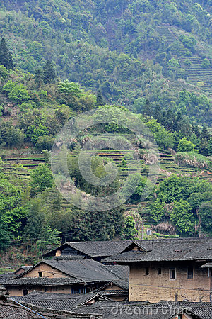 Traditional residence in mountains of Fujian, South of China