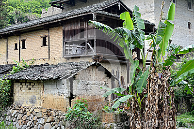 Local traditional residence in country of Fujian, China