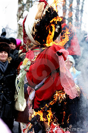 Traditional rite of the burning of the effigy Editorial Image