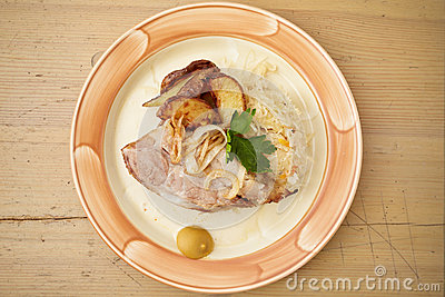 Traditional roast pork