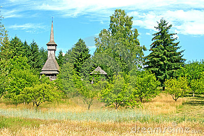 Traditional Romanian church- Maramures region