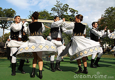 Traditional Romanian dance Editorial Stock Photo