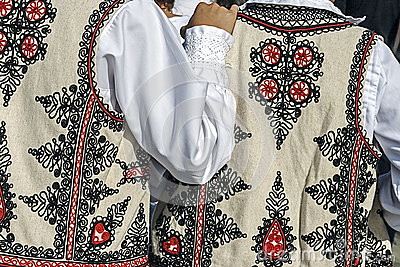 Traditional Romanian folk costume.Detail 33