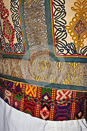 Traditional Romanian folk costume.Detail 18