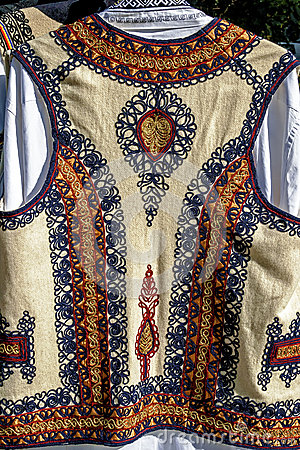 Traditional Romanian folk costume.Detail 32