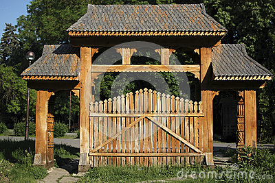 Traditional Romanian gateway