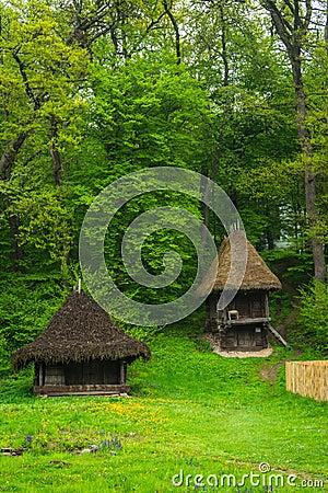 Traditional romanian houses stock photo image 54864792 - Romanian peasant houses ...