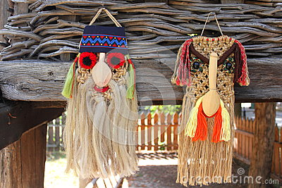 Traditional romanian masks