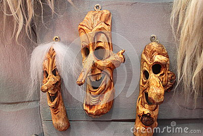 Traditional romanian masks