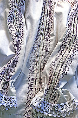Traditional Romanian port of female clothes