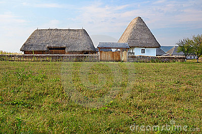 Traditional Romanian village Editorial Stock Image
