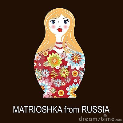 Traditional Russian matryoshka matrioshka doll