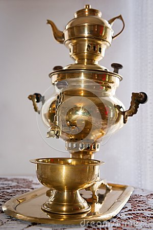 Free Traditional Russian Old Samovar Stock Photography - 24866142