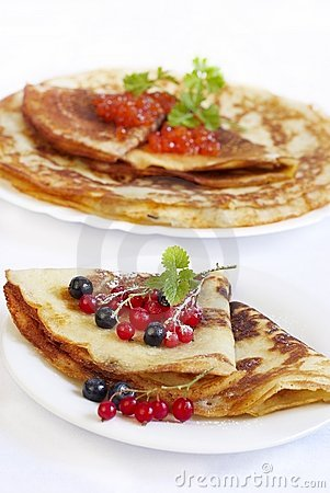Traditional Russian pancakes