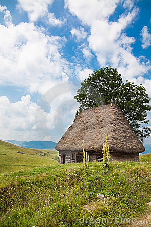 Traditional rustic house in Apuseni Mountains