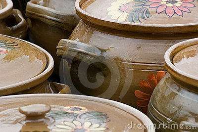 Traditional rustic pottery from Romania