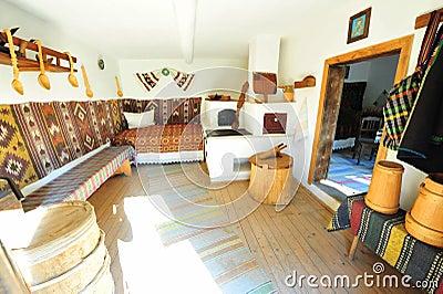 Traditional rustic rural home interior - Romania