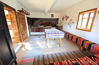 Traditional rustic rural home interior - Romania