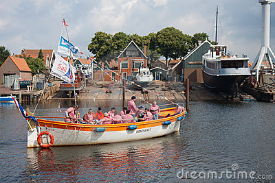 A traditional sailors choir singing a shanty song Editorial Stock Photo
