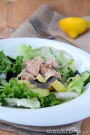 Traditional salad nicoise