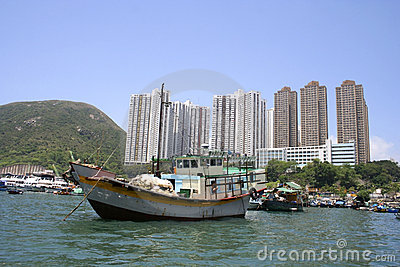 Traditional Sampan boat, Hong Kong, China