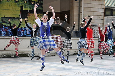 Traditional Scottish dancers Edinburgh Tattoo Editorial Stock Photo