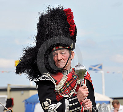 Traditional Scottish man at Nairn Highland Games Editorial Image