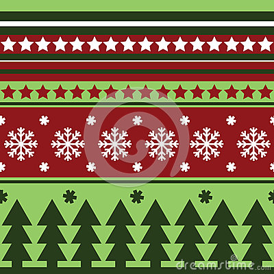 Traditional seamless winter pattern