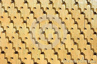 Traditional shingle wall from Romania