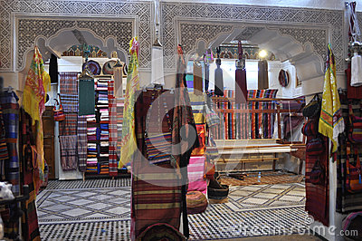 Traditional shop in Fes,Morocco