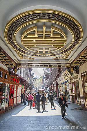 Traditional shopping area in shanghai china Editorial Photography