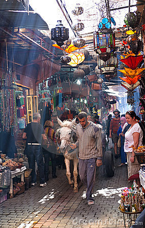 Traditional Souks, Medina, Marrakech Editorial Image