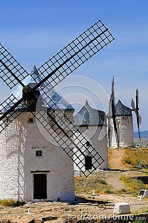 Traditional spanish windmills