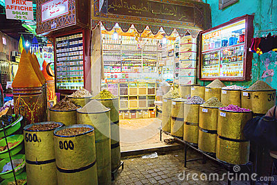 Traditional spices market Editorial Stock Image