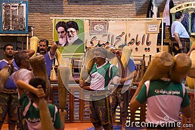 Traditional sports (Zurkhaneh) in Yazd, Iran