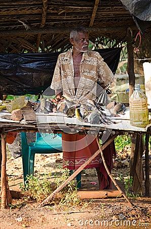Traditional Sri Lankian open fish market Editorial Stock Image