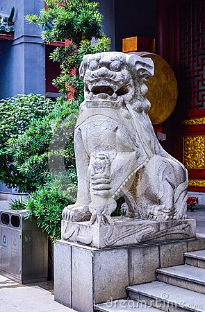 Free Traditional Stone Lion Sculpture In China Stock Photos - 109787833