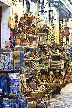 Traditional stores in Greece