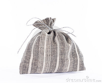 Traditional style linen gift bag.