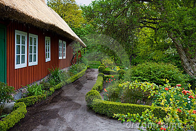 Traditional swedish house in Skansen.