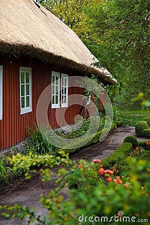 Traditional swedish house in Skansen.