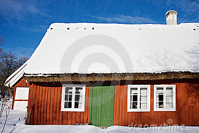 Traditional swedish house in Skansen, Stockholm