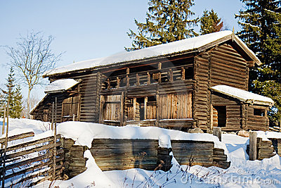 Traditional swedish house in Skansen, Stockholm