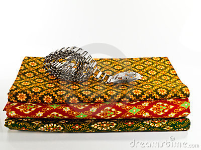 Traditional Thai Cloth with Silver Belt
