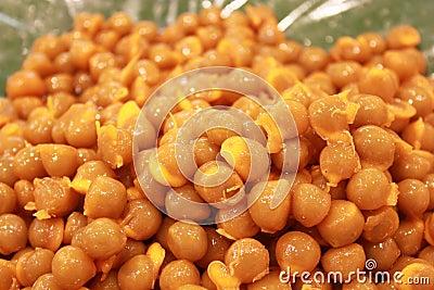 Traditional thai dessert. Gold Egg Yolks Drops