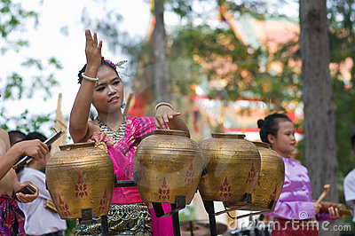 Traditional Thai folk dance (Pongrang) Editorial Image