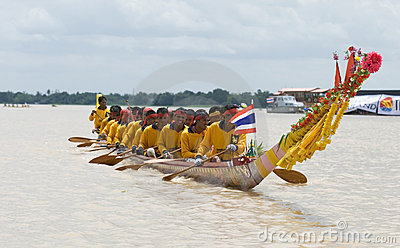 Traditional Thai long boat Editorial Stock Image