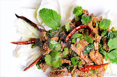Traditional thai spicy salad