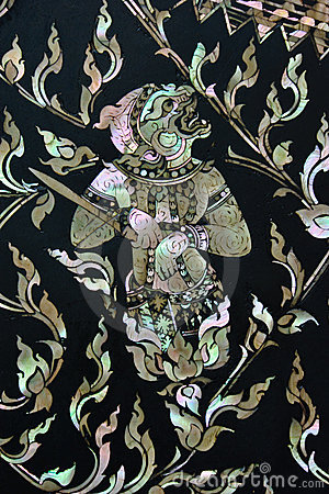 Traditional Thai style art
